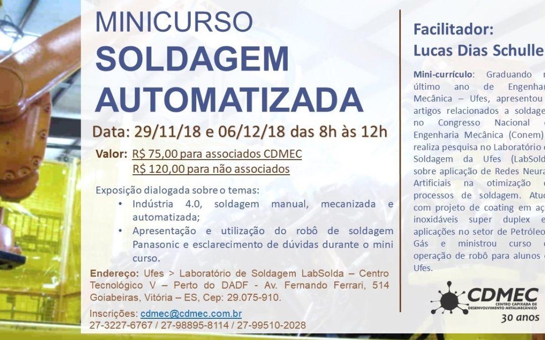 Minicurso Soldagem Automatizada